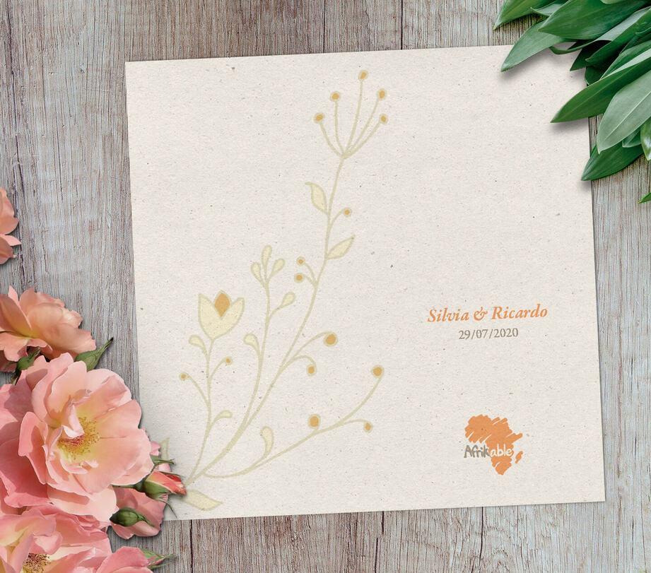 Tarjeta regalo boda solidaria con nombre - modelo clásico